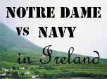 Notre Dame Fighting Irish vs Navy Midshipmen in Ireland 2012