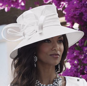 Shantung Lampshade Kentucky Derby Hat