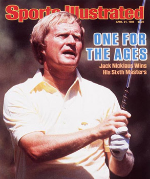 The now classic SI cover highlighting Nicklaus' victory.