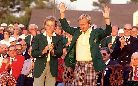 Jack Nicklaus won his sixth Masters Golf Tournament in 1986.