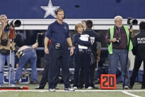 Kristi on the sideline