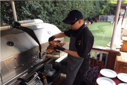 Gourmet food served at the 1018 Club Masters Hospitality