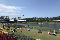 Famous 17th Hole at TPC Sawgrass during the Players Championship