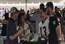 Saints Fan at Pre-Game Tailgate