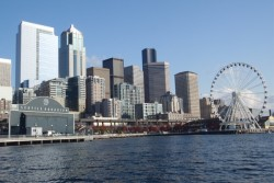 Downtown Seattle during Seahawks Football Weekend