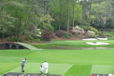 Practice Round Day during The Masters Golf Tournament