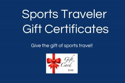 Sports Traveler Gift Certificates