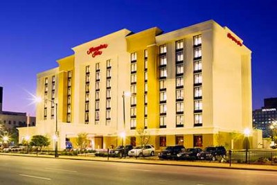 2 night Hampton Inn Downtown Louisville