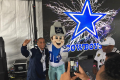 Dallas Cowboys Fan with Rowdy