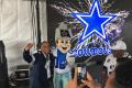 Dallas Cowboys Mascot with Fan