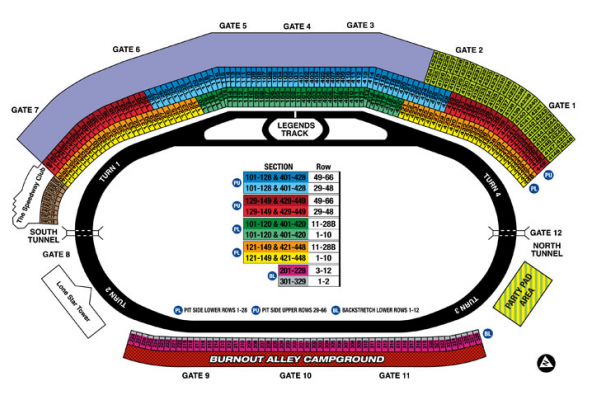 Texas 500 travel packages tickets texas motor speedway for Texas motor speedway weekend schedule