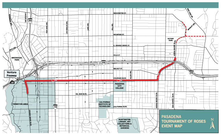 Rose Parade Route Map Pasadena