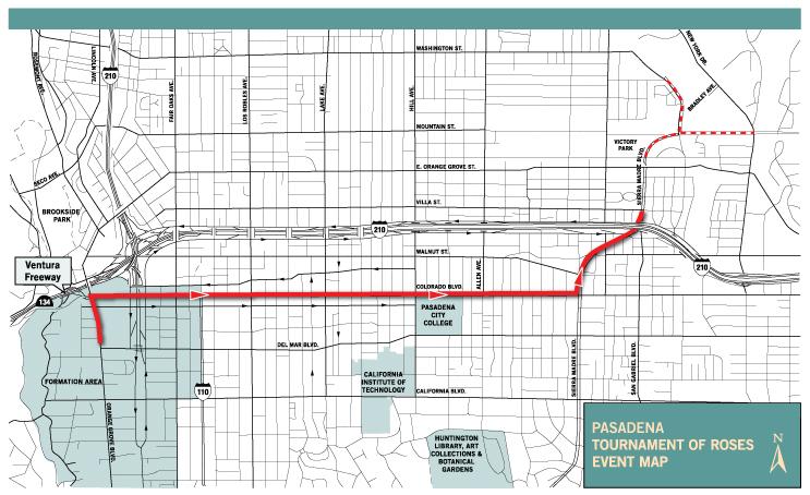 Rose Parade Route Map Pasadena