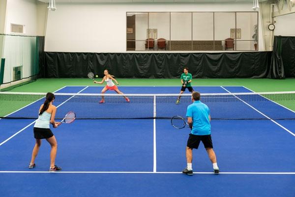 Playing tennis at the Four Seasons Resort Las Colinas Texas