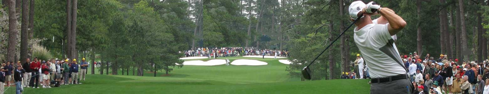 Fans taking part in a Sports Traveler Masters Golf Package at Augusta National Golf Course