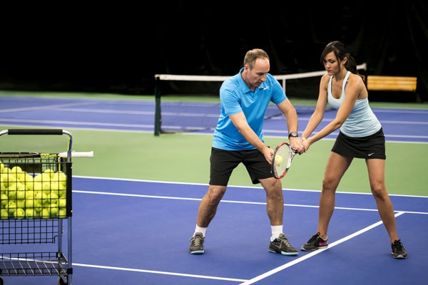 Private tennis lessons at the TPC Las Colinas Four Seasons Resort