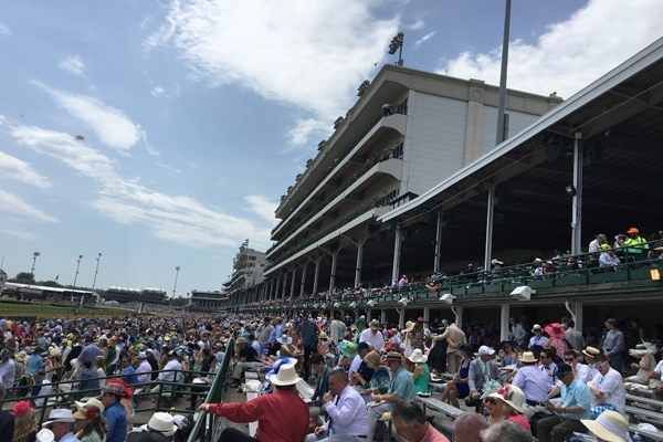View from Kentucky Derby grandstand tickets at Churchill Downs