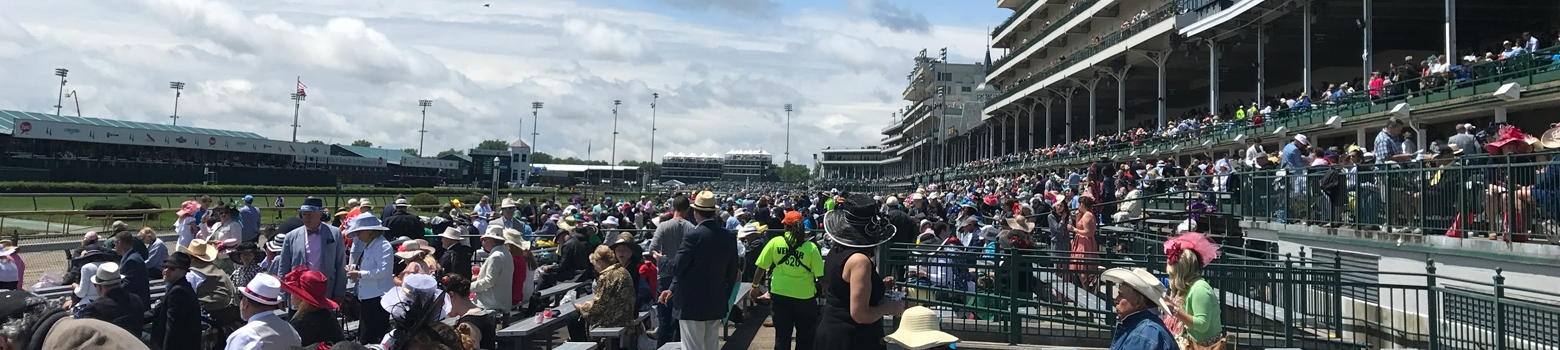 View from grandstand Kentucky Derby tickets at Churchill Downs