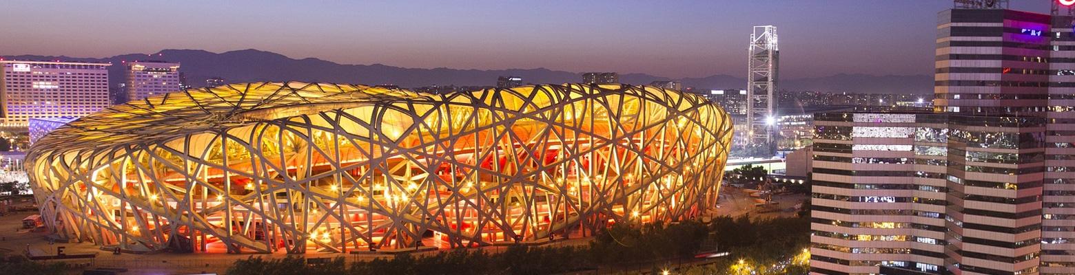 The Birds Nest Beijing Winter Olympics Skyline