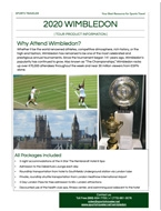 2020 Wimbledon Sports Traveler Brochure