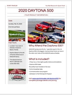 2020 Daytona 500 Sports Traveler Brochure