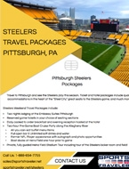 Pittsburgh Steelers Travel Packages Brochure