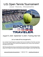 2020 Sports Traveler US Open Tennis Brochure