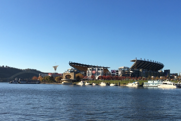 Pittsburgh Steelers pre game party on the Allegheny River