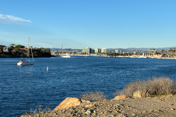 The harbor in Marina Del Rey California.