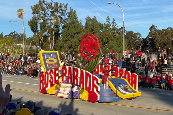 First Float of the 2020 Tournament of Roses Parade
