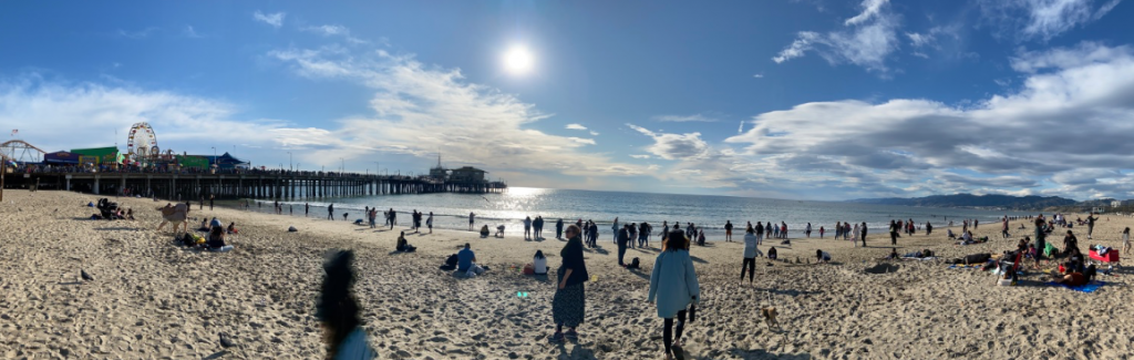 Santa Monica Pier during the 2020 Rose Bowl Weekend Tour