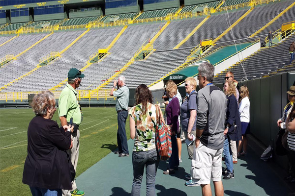 Touring Lambeau Field home of the Green Bay Packers